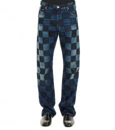 Balenciaga Blue Damier Cube Jeans