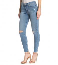 Blue Farrah High-Rise Ankle Skinny Jeans