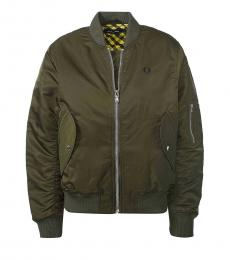 Fred Perry Olive Oversized Jackets