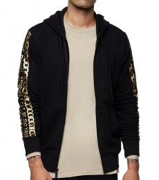 True Religion Black Logo Hoodie Jacket