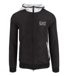Emporio Armani Black Logo Hoodie Running Jacket