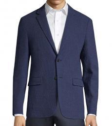 Dark Blue Clinton Oxygen Wool Blazer