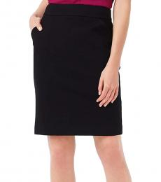 Black Ponte Work Pencil Skirt