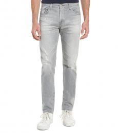 AG Adriano Goldschmied Light Grey Tellis Modern Slim Fit Jeans