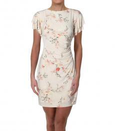 Ralph Lauren Off White Floral Party Dress