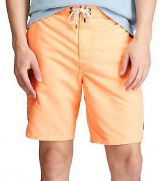 Ralph Lauren Orange Splash Kailua Swim Trunks