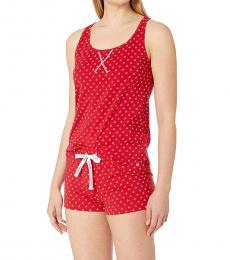 Calvin Klein Red Racerback Tank Shorts Pajama Set
