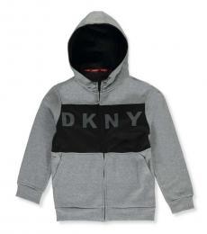 DKNY Little Boys Heather Grey Zip Hoodie