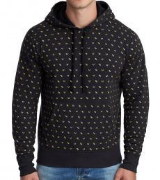 True Religion Black Monogram Pullover Sweatshirt