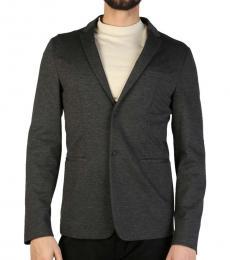 Emporio Armani Dark Grey Solid Blazer
