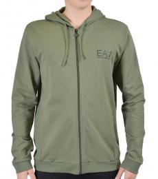 Green Full Zip Track Jacket