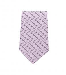Michael Kors Pink Neat Geo Slim Silk Tie