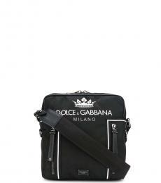 Dolce & Gabbana Black Zipper Small Crossbody