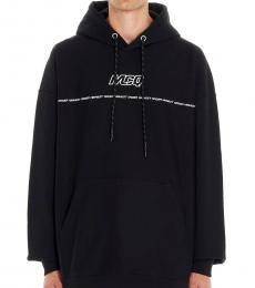 McQ Alexander McQueen Black Felpa Cappuccio Logo Sweatshirt