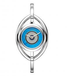 Tory Burch Steel-Blue Eye Bangle Watch