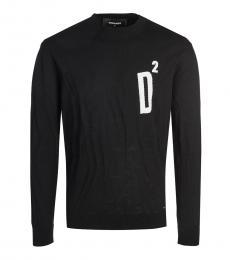 Black Graphic Print Sweater