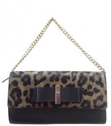 Kate Spade Leopard Print Parchment Drive Small Shoulder Bag