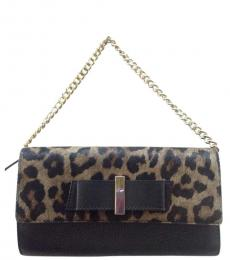 Kate Spade Leopard Print Parchment Drive Small Shoulder Bag