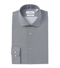 Dark Navy Pattern Slim Fit Dress Shirt