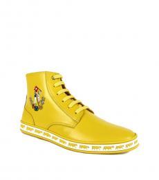 Bally Giallo Yellow Anistern Hi Top Sneakers