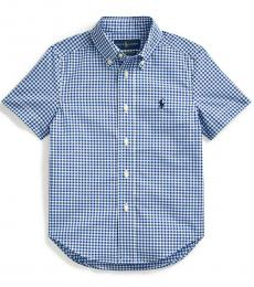 Ralph Lauren Little Boys Blue Gingham Shirt