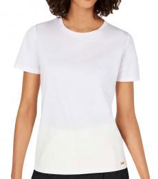 Calvin Klein White Crew Neck Cotton Top