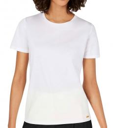 Calvin Klein White Crew Neck Cotton Top