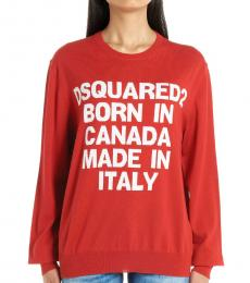 Dsquared2 Red Logo Sweater