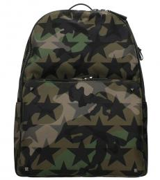 Green Camo Signature Large Backpack