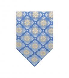 Blue-Multi Flower Mandala Silk Tie