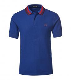 Royal Blue Contrast Collar Polo