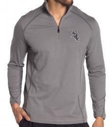 Tommy Bahama Grey-Home Run Half-Zip Sweatshirt
