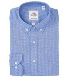 Ben Sherman Blue Oxford Skinny Fit Dress Shirt