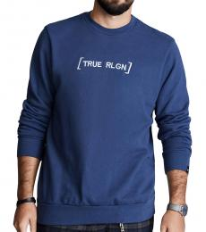 True Religion Dark Blue Slogan Sweatshirt