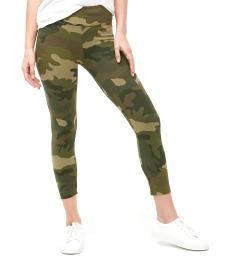 Camo Print Cropped Leggings