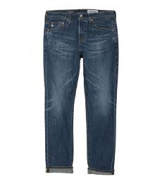 AG Adriano Goldschmied Dark Blue Clyfton Relaxed Tapered Jeans