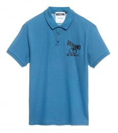 Blue Chest Logo Polo
