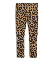 J.Crew Girls Leopard Brown Black Leggings