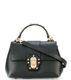 Dolce & Gabbana Black Lucia Small Satchel