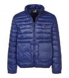 Love Moschino Dark Blue Logo Patch Jacket