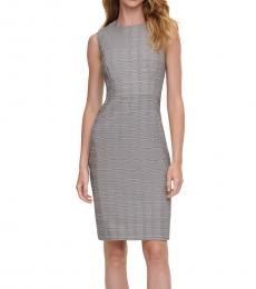 BlackWhite Plaid Sheath Dress
