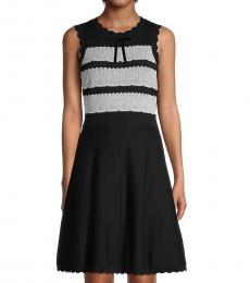 Kate Spade Black Lace-Jacquard Cotton Sweater Dress