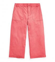 Ralph Lauren Girls Medium Red Cropped Chino Pants