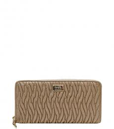 Coach Beige Quilted Wallet