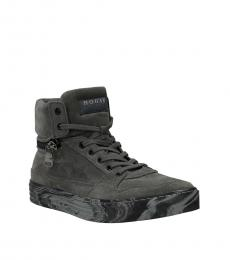 Hogan Grey Suede High Sneakers