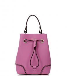 Furla Pink Stacy Mini Bucket Bag