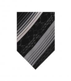 Grey Regimental Stripe Tie
