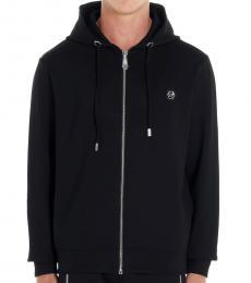 Philipp Plein Black Super Star Hoodie Jacket