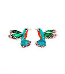 Betsey Johnson Blue Humming Birds Earrings