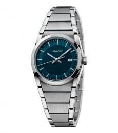 Calvin Klein Silver Dark Green Dial Watch